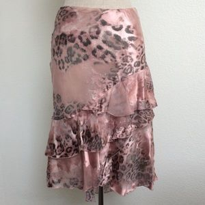 Ruffle Italian Mixed fabric skirt